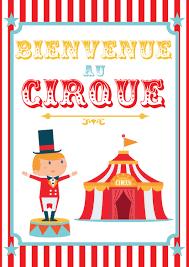 chambre cirque poster cirque à imprimer momes