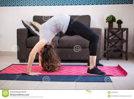 pregnant woman doing a backbend stock photo image 55956944