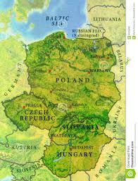 European Country Map by Geographic Map Of European Country Czech Republic Poland