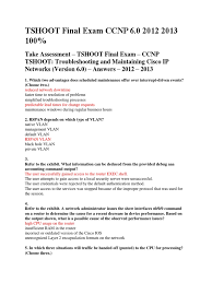 Adjacency Resume Tshoot Final Exam Ccnp Ip Address Computer Network