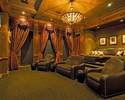 Home Theater Blackout Curtains Media Room Blackout Curtains Houzz