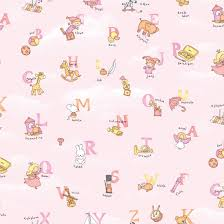 pink wallpaper for walls pink alphabet pattern self adhesive baby room wallpapers
