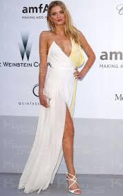 white chiffon a line v neck sleeveless long prom dress online
