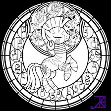 stained glass zecora line art sans smoke by akili amethyst on