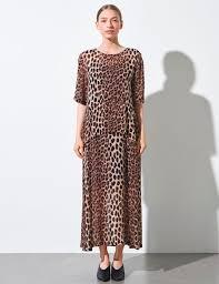 maxi kjole køb just ulrikka maxi kjole leopard message