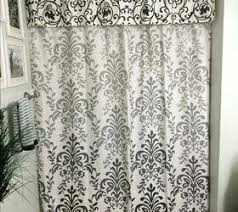 Double Swag Shower Curtain With Valance Shower Curtains With Valance U2013 Teawing Co