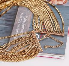 necklace chains wholesale images Fashion cool gold multi layer chain necklace wholesale yiwuproducts jpg