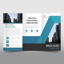 free tri fold business brochure templates blue trifold business brochure template vector free