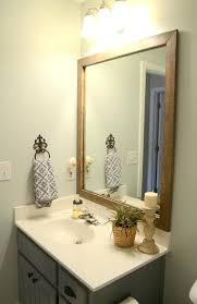 Bathroom Mirrors At Home Depot Framed Bathroom Mirrors Stained Wood Mirror Home Depot Linked