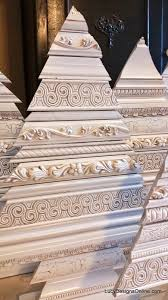 tree sculptures using decorative molding and