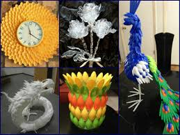 plastic spoon craft ideas recycled home decor youtube
