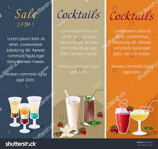 cocktail recipes poster vertical banners cafes restaurants other delicious drinks stock