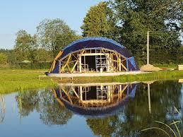 wooden guest geodesic house 125m2 with sauna ø12m širvintai