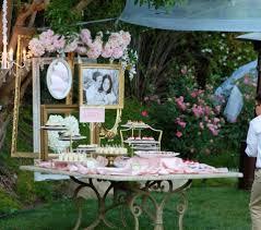 Backyard Gold Dessert Table Backyard Reception Outdoor Reception Blush Gold