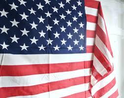 Vintage Americana Decor Industrial Flag Etsy