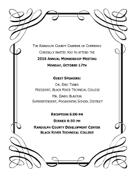 2016 annual membership meeting randolph county chamber of commerce