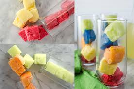 how to make rainbow ice cubes no food coloring the flavor bender
