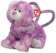 amazon com ty beanie babies beary bag ty dye bear purse toys