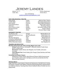 Actor Resume Special Skills Lovely Inspiration Ideas Performance Resume 12 Resume Example