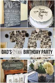 Details from dad s milestone 70th birthday party décor Black