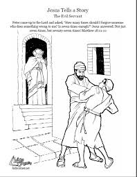 the parable of the evil servant coloring page audio bible