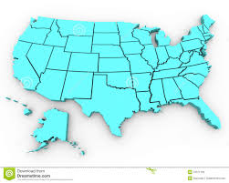 Usa Maps States by U S A Map United States 3d Render Stock Photos Image 13121193