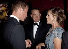 wilson and ton hanks photos photos the royals at a bafta