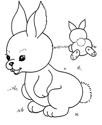 easter bunny coloring page for kindergarten animal coloring
