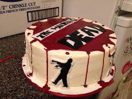 walking dead cake ideas walking dead cake with edible blood the zombies are flickr