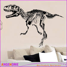 t rex skeleton dinosaurs wall art sticker wall decal stick diy t rex skeleton dinosaurs wall art sticker wall decal stick diy home decoration wall mural removable sticker tyrannosaurus rex cling wall decals clings for