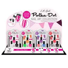 l a polka dot kit nail polish 24pcs ds hair motion intl corp
