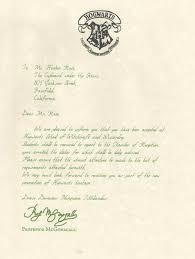 harry potter hogwarts acceptance letter cover letter website