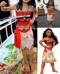 toddler halloween clothes moana costume for kids moana princess dress cosplay costume