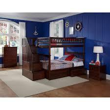 Atlantic Furniture Columbia Staircase Full Over Full Bunk Bed - Full over full bunk bed
