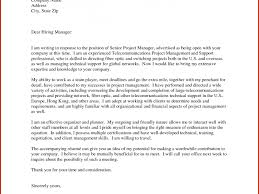 senior project manager cover letter sample senior management