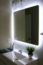 mirrors lighted frame mirror lighted framed mirror wood frame