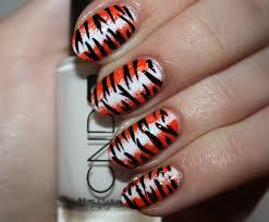 tiger paw print nail art images