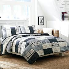 Twin Plaid Comforter Bedding Sets Bedroom Design Endearing Navy Queen Comforter Set
