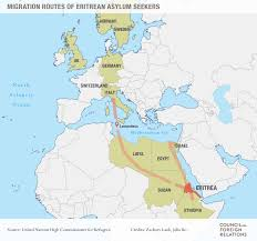 Where Is Germany On The World Map by Authoritarianism In Eritrea And The Migrant Crisis Council On