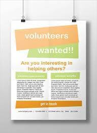 volunteer brochure template volunteers wanted poster template green and pink icon