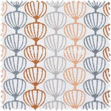 orange grey white geometric balloon pattern soft chenille