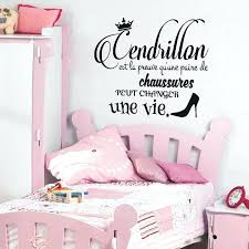 sticker chambre bébé fille sticker citation cendrillon stickers chambre ado fille stickers