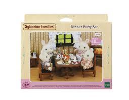 Sylvanian Families Dinner Party Set Amazoncouk Toys  Games - Sylvanian families luxury living room set