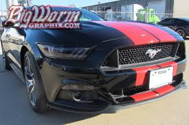Black Mustang With Stripes 2015 17 Mustang Wide Dual Full Length Stripes From Big Worm Graphix