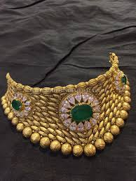 big gold fashion necklace images Gold antique emerald choker from big shop pinterest gold jpg