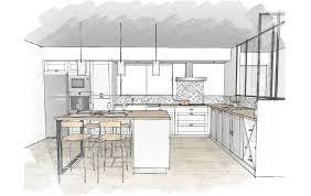 plan de cuisine avec ilot cuisines et nos vues 3d déco cuisine