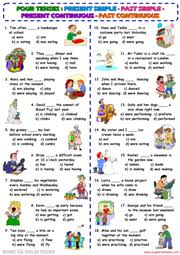 verb tenses esl printable worksheets and exercises