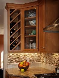 wine racks kitchen cabinets
