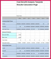Cost Analysis Excel Template Cost Analysis Template Cost Benefit Analysis Template Excel 2 6