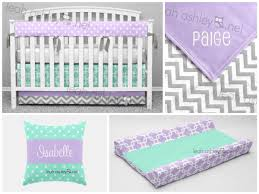 Lavender And Grey Crib Bedding Leahashleyokc Www Leahashley Net Soothing And Sweet Baby